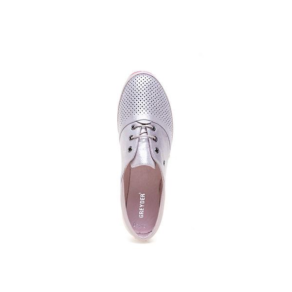 Greyder, GREYDER Modischer Halbschuh Gute mit Glanzbeschichtung, silber-kombi  Gute Halbschuh Qualität beliebte Schuhe 1248d1
