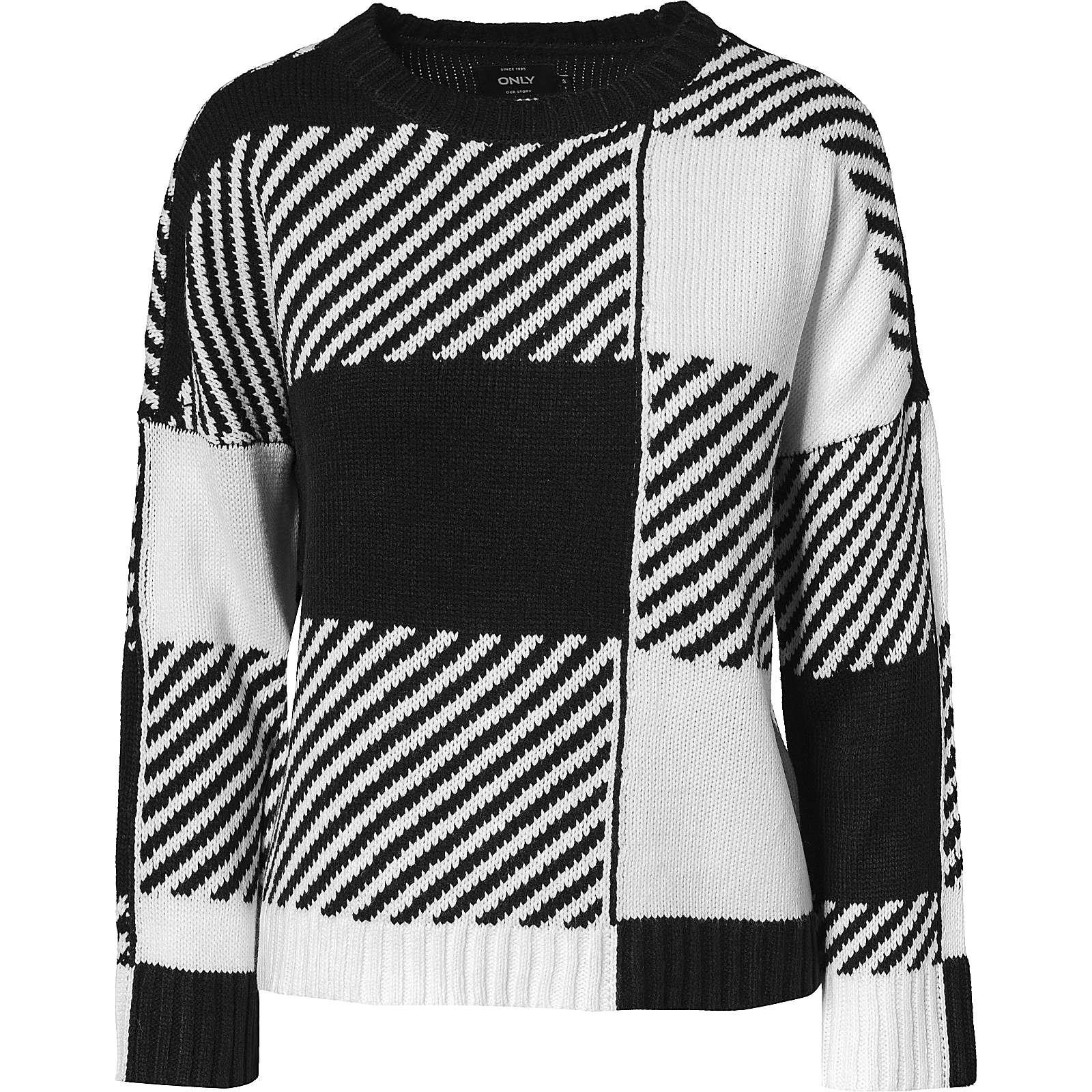 ca9af3deeb3fc7 ONLY onlKASEY L/S PULLOVER KNT - Pullover - weiblich schwarz Damen Gr. 38