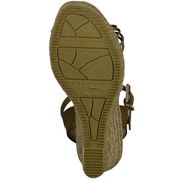 Fred de la Bretonière Bretonière Bretonière Keilsandaletten khaki  Gute Qualität beliebte Schuhe 2819bf