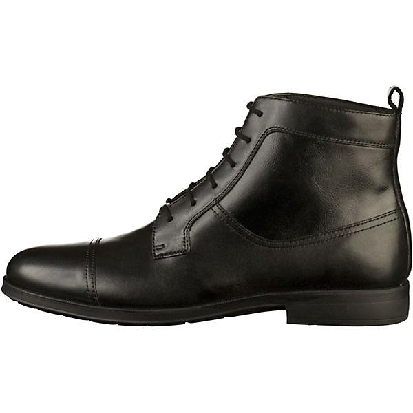 GEOX, Schnürstiefeletten, schwarz  Gute Qualität beliebte Schuhe