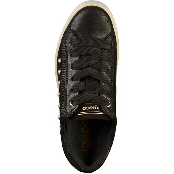 IGI & CO, Sneakers Low, schwarz schwarz schwarz  Gute Qualität beliebte Schuhe 3ceba3