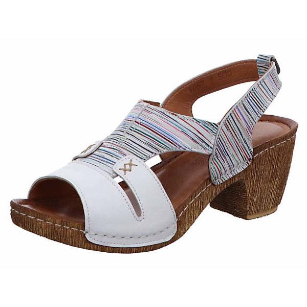 Klassische Klassische GEMINI GEMINI weiß Sandaletten GEMINI Sandaletten weiß qOXEI