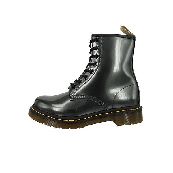 Dr. Martens Gunmetal Grau Anthrazit Chrome Paint Paint Paint Metallic 8-LochSchnürstiefeletten grau  Gute Qualität beliebte Schuhe fd8909