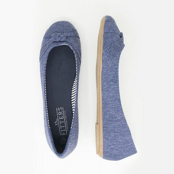 dunkelblau Footwear Ballerinas Amy Fitters Klassische pCqxO