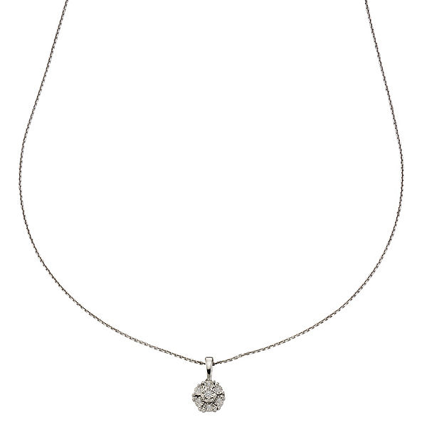 Celesta Diamonds Collier 925/- Silber 7x DiamantHalsketten