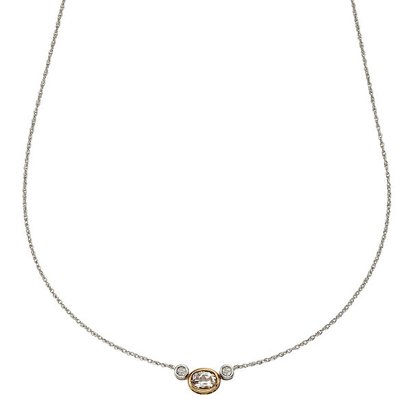 Celesta Diamonds Collier 925/- Silber 2x DiamantHalsketten