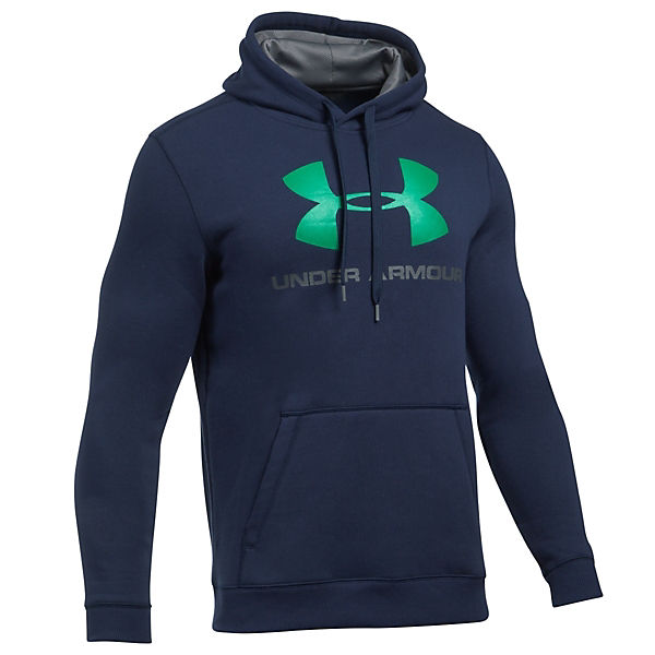 Armour Fleece Rival GraphicSweatshirts blau Hoodie Fitted Under HBwgz4qw