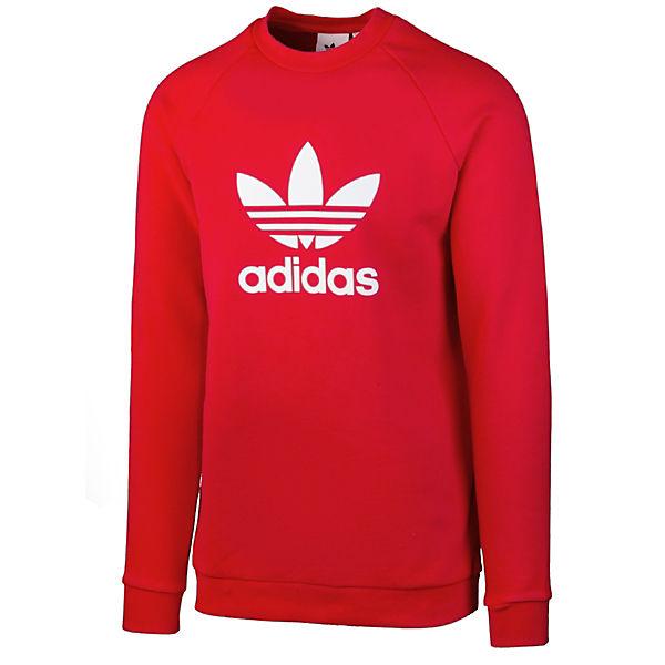 Pullover adidas CrewSweatshirts Trefoil Originals rot z5zq1wX