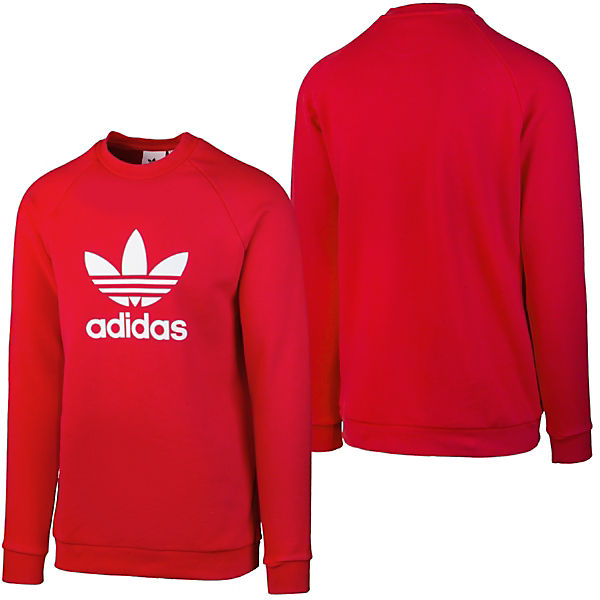 rot Pullover CrewSweatshirts adidas Trefoil Originals wIzxqCP