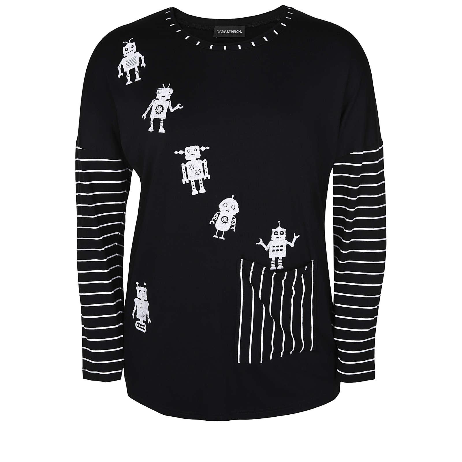 Doris Streich T-Shirts schwarz Damen Gr. 48