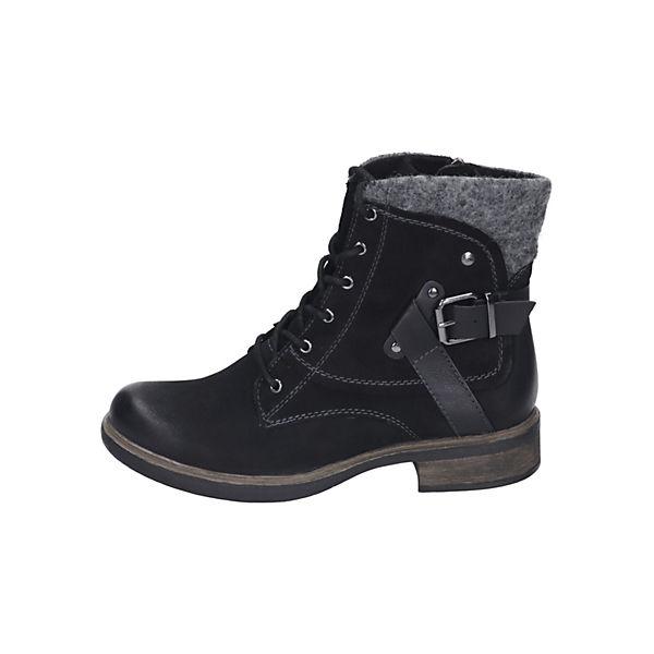 Tamaris Schnürstiefeletten schwarz  Gute Qualität beliebte Schuhe