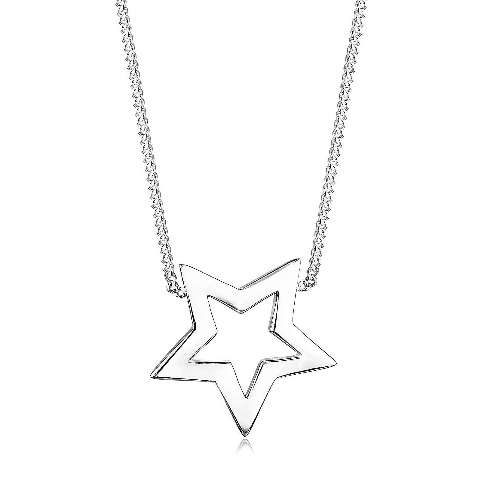 Elli Halskette Stern Astro Blogger 925 Sterling Silber Halsketten silber Damen