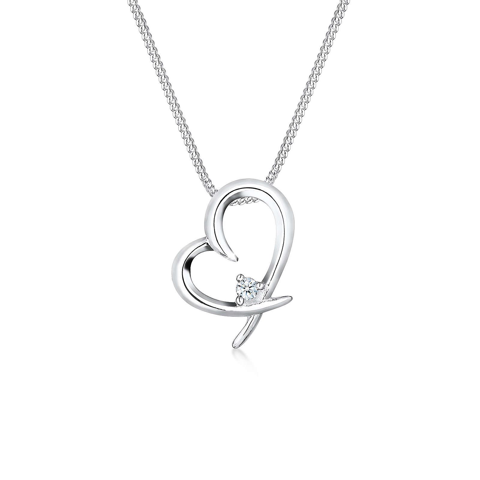 Diamore Halsketten weiß Damen