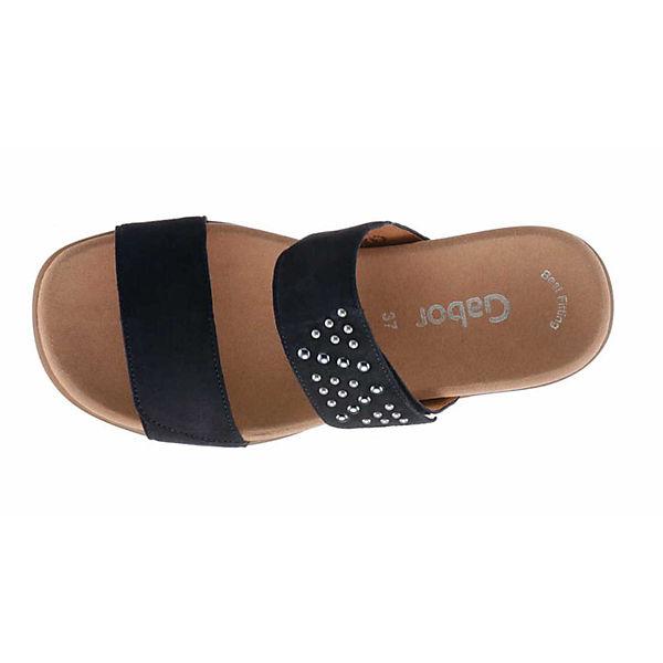 Gabor, Pantoletten, beliebte blau  Gute Qualität beliebte Pantoletten, Schuhe 611bd3