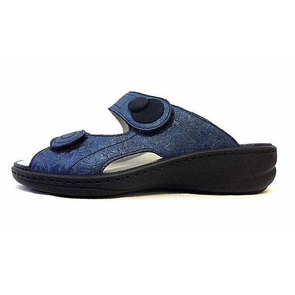 WALDLÄUFER, Pantoletten, blau  Gute Qualität beliebte Schuhe