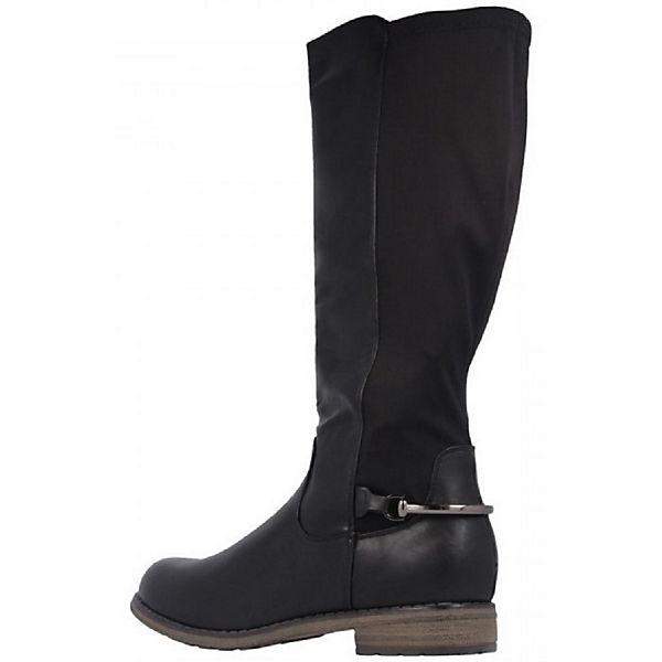 Klassische Maja schwarz Stiefel Fitters Footwear Ha0v607