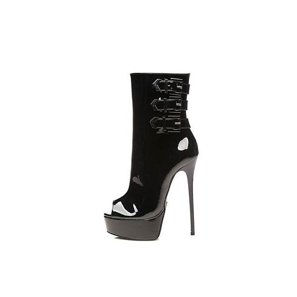 Klassische schwarz Stiefel Maruckle Giaro Stiefeletten REASIxnqw