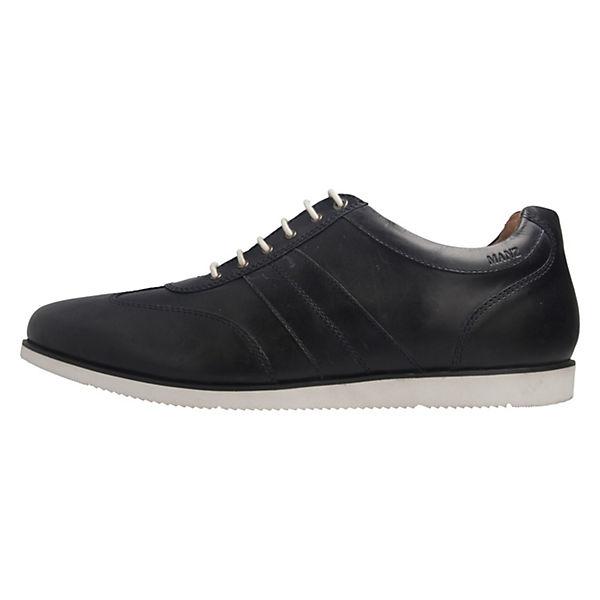 MANZ, Halbschuhe Cow oily pullup PU Klassische Halbschuhe, blau  Gute Qualität beliebte Schuhe