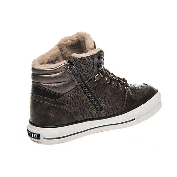 Sneaker Sneakers braun MUSTANG High Low Top tqxtXzwE