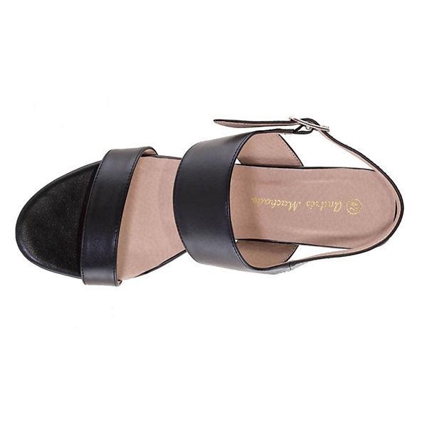 Andres Machado, Sandaletten, Sandalette AM5250 Klassische Sandaletten, Machado, schwarz   363dfa