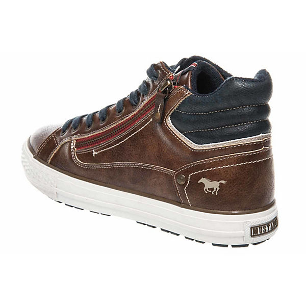Sneakers Low Sneaker MUSTANG braun Top High wTztR