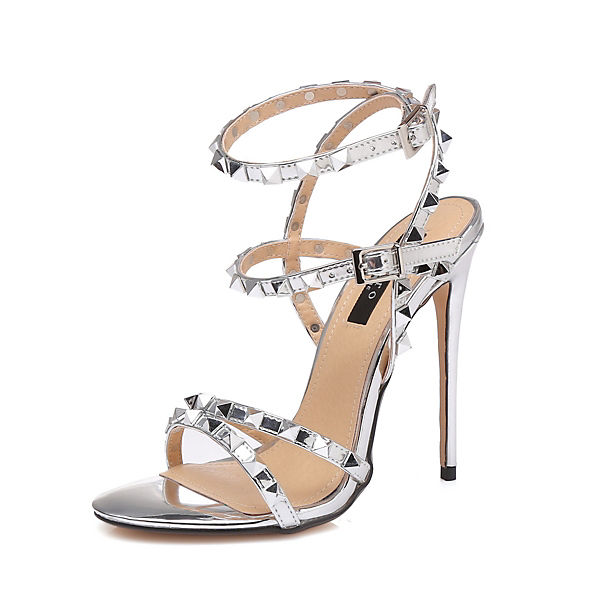 Sandaletten Klassische Giaro Klassische silber Giaro 6qt6PXT