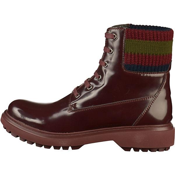 GEOX Schnürstiefeletten rot  Gute Qualität beliebte Schuhe