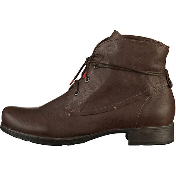 Think! Schnürstiefeletten dunkelbraun  Gute Qualität beliebte Schuhe