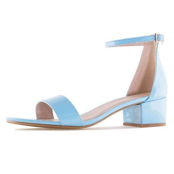 Andres Machado, Sandalette blau AM5259 Klassische Sandaletten, blau Sandalette   062369