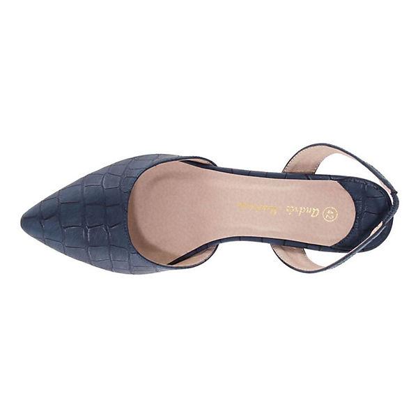 Andres Machado, Pumps Qualität AM5244 Klassische Pumps, blau  Gute Qualität Pumps beliebte Schuhe 6deebf