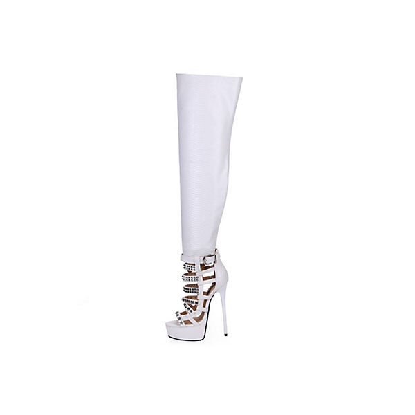 Giaro Stiefel White SnakeKlassische Stiefel weiß  Gute Qualität beliebte Schuhe