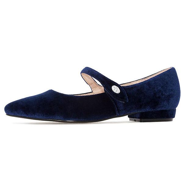 Andres Machado, Ballerina blau AM5204 Klassische Ballerinas, blau Ballerina   7f97e6