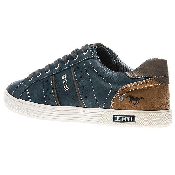 MUSTANG, Sneakers Low, blau