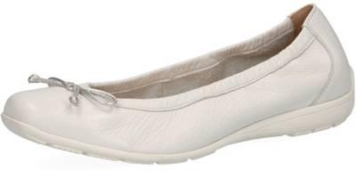 Schuhe Ballerina Slipper rot weiss Caprice
