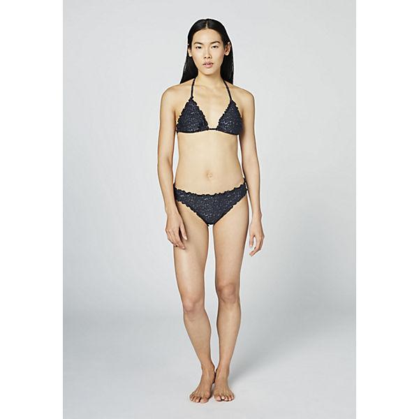CHIEMSEE Bikini grau schwarz mit Triangel Rüschenkante rx50vT0nZq