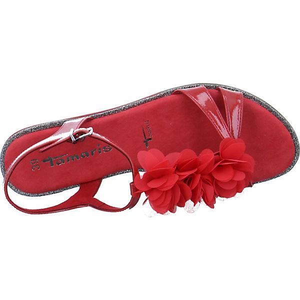 rot Tamaris Klassische Tamaris Sandalen Klassische Sandalen rot Tamaris qC0pUwx