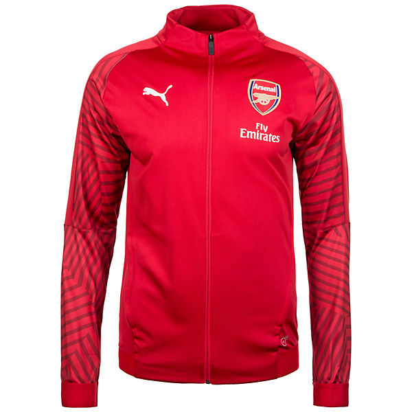 rot gemustertem Trainingsjacke PUMA FC Ärmeln Arsenal mit zYa0ZSq