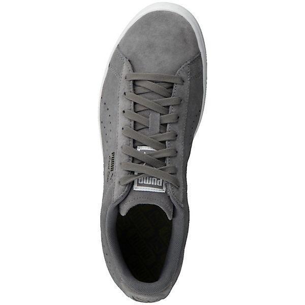 02 grau PUMA Sneaker mit 364621 profilierter kombi Laufsohle Suede Court Star XwSxqCwOz
