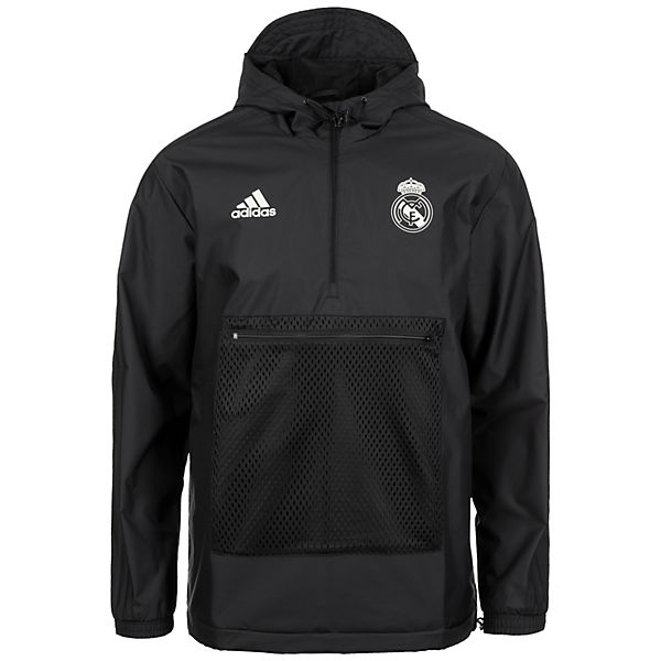Performance schwarz Trainingsjacken adidas Kapuzenjacke Madrid Real adidas Seasonal Windbreaker Specials U7zqdS17w