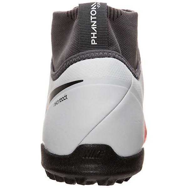 Nike Performance, Nike React Phantom Vision Pro DF TF Fußballschuh  Fußballschuhe, grau/rot
