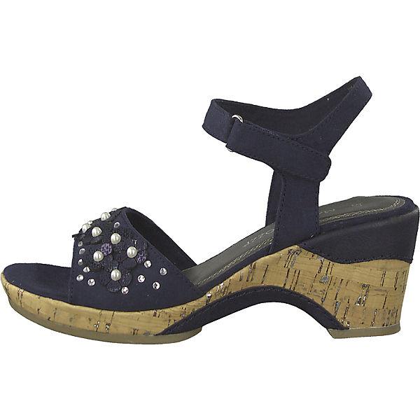 MARCO TOZZI  Klassische Sandaletten  blau