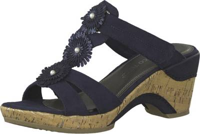 MARCO TOZZI Sandale Sandale mit großem Knopf schwarz