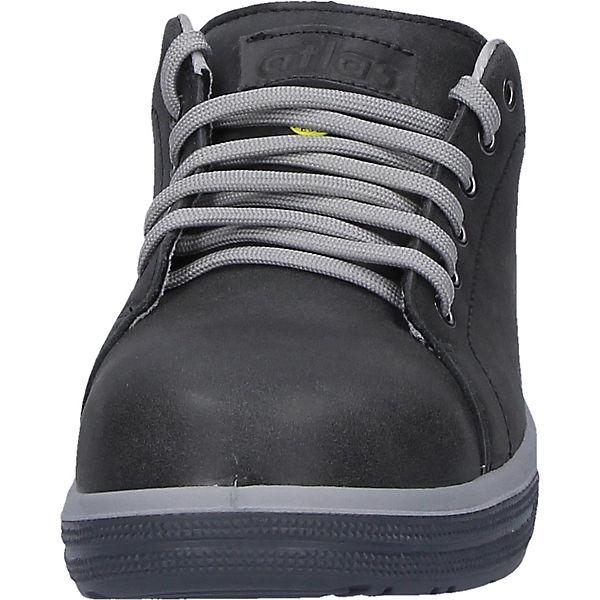 Sneaker Esd Schwarz Sicherheitsschuhe A285 Sicherheitshalbschuhe Atlas j5RA4L