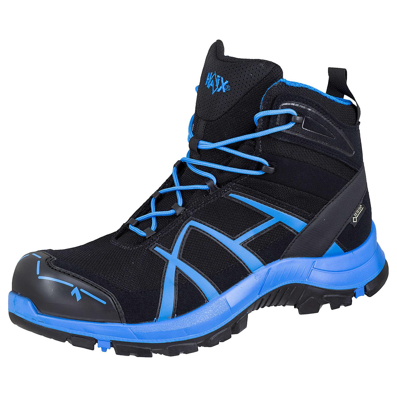 HAIX® Haix Sicherheitsschuhe Black Eagle Safety 40 mid black/blue Sicherheitshalbschuhe schwarz/blau Gr. 42,5