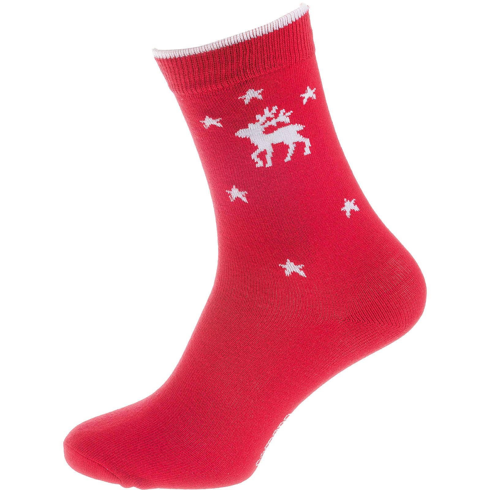 camano ein Paar Socken XMAS rot Gr. 36-41