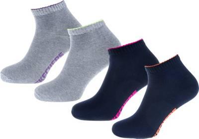 Skechers Damen Basic Sneaker 4 Paar Socken