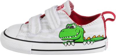 CONVERSE, Baby Sneakers Low CTAS 2V OX WHITEFIERY REDBLACK