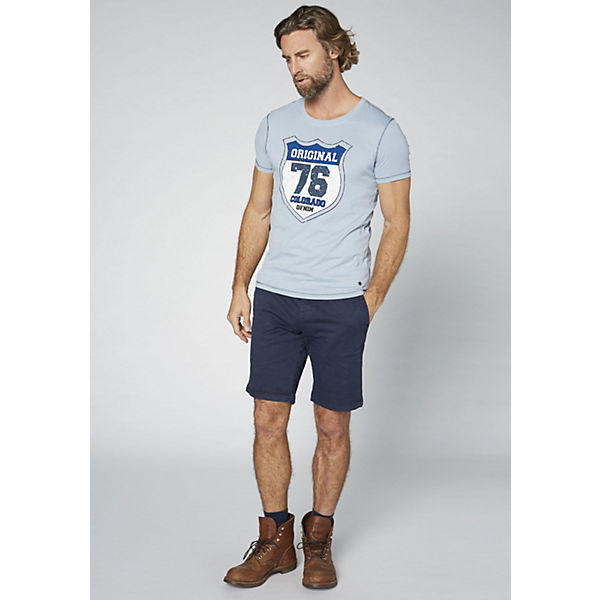 Herren T DENIM Baumwolle reiner aus GOTS COLORADO blau Shirt tx1dTxw