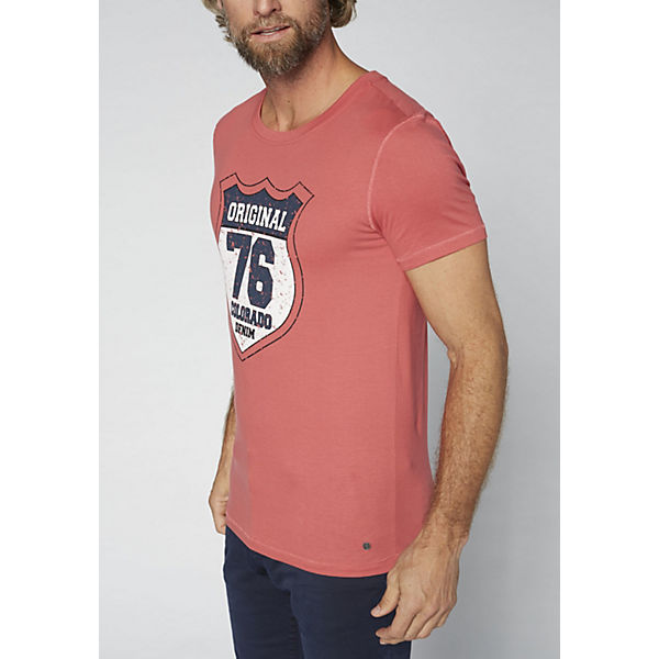 rot T Herren DENIM reiner Shirt GOTS aus Baumwolle COLORADO qPfUH