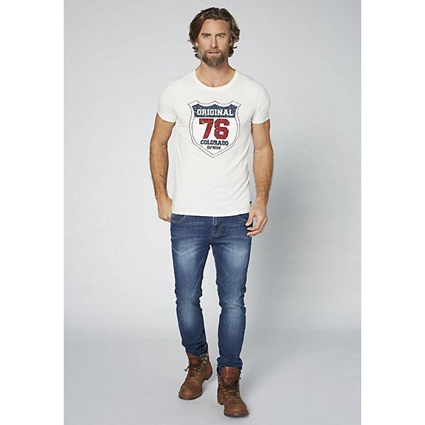 COLORADO aus DENIM Shirt reiner T weiß Baumwolle Herren GOTS FwqFxr4